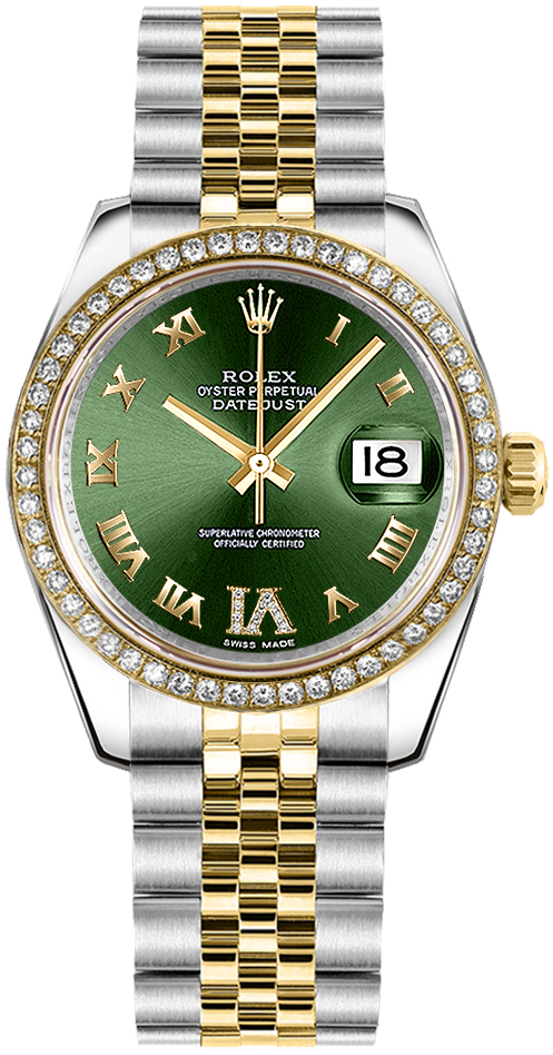 Rolex Datejust 31 Green Dial Women\u0027s Watch 178383