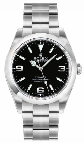 Rolex Explorer Black Dial Automatic Men's Watch 214270-0001