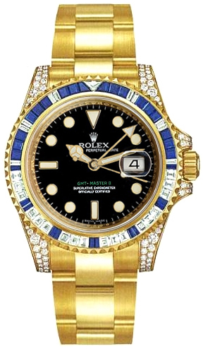 Rolex GMT-Master II Solid Gold Men's Watch 116758