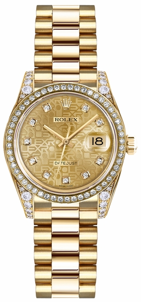 Rolex Lady-Datejust 26 Solid Gold Watch 179138