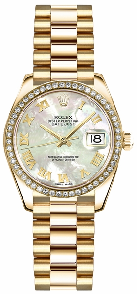 Rolex Lady-Datejust 26 Mother of Pearl Roman Numeral Watch 179138