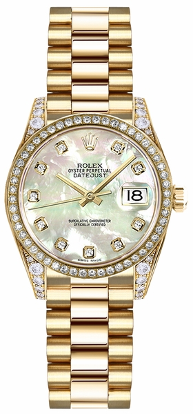Rolex Lady-Datejust 26 Mother of Pearl Diamond Watch 179158