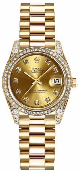 Rolex Lady-Datejust 26 Solid Gold Women's Watch 179158