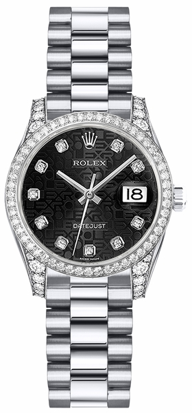 Rolex Lady-Datejust 26 Solid White Gold Watch 179159