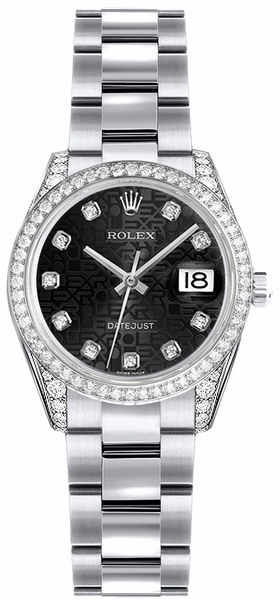 Rolex Lady-Datejust 26 White Gold Watch 179159