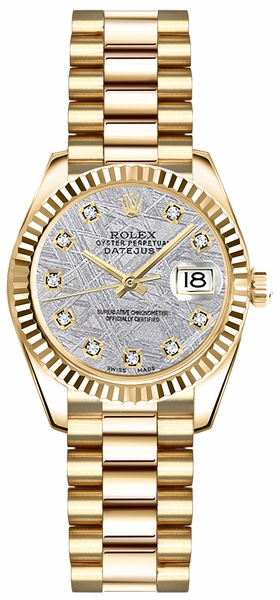 Rolex Lady-Datejust 26 Solid 18K Gold Watch 179178