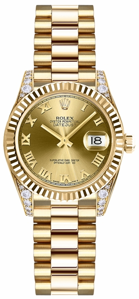 Rolex Lady-Datejust 26 Solid Gold Watch 179238
