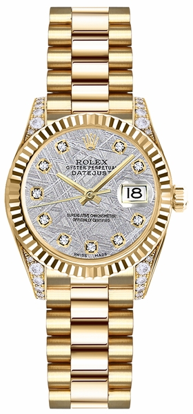 Rolex Lady-Datejust 26 Solid 18K Gold Watch 179238