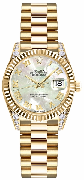 Rolex Lady-Datejust 26 Mother of Pearl Roman Numeral Watch 179238