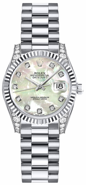 Rolex Lady-Datejust 26 Mother of Pearl Diamond Watch 179239