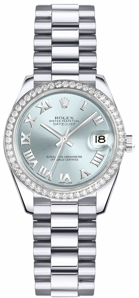 Rolex Lady-Datejust 26 Ice Blue Dial Watch 179136