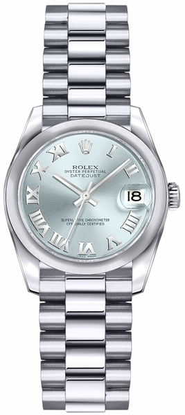 Rolex Lady-Datejust 26 Ice Blue Dial Watch 179166