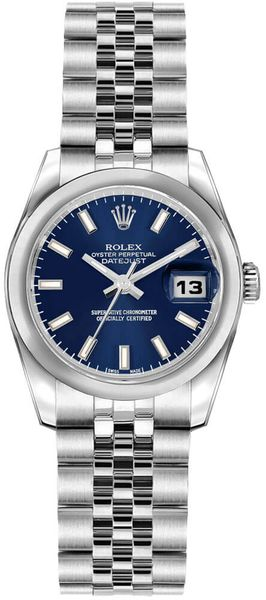 Rolex Lady-Datejust 26 Blue Dial Women's Watch 179160