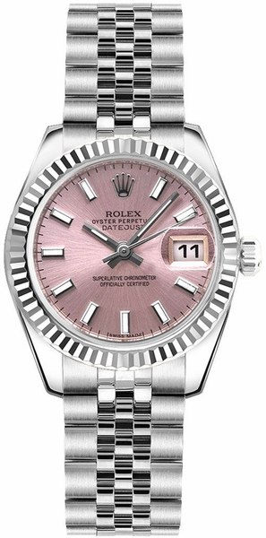 Rolex Lady-Datejust 26 Pink Women's Watch 179174