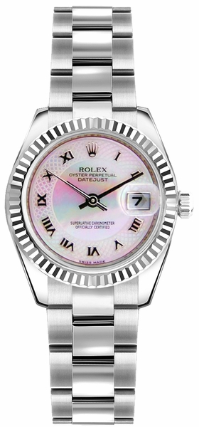 Rolex Lady-Datejust 26 Stainless Steel & Gold Watch 179174