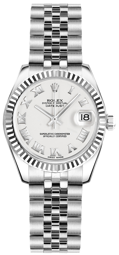 Rolex_Lady-Datejust_26_White_Roman_Numeral_Dial_Watch_179174