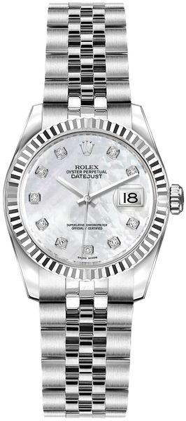 Rolex Lady-Datejust 26 Women's Pearl Watch 179174