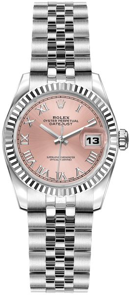 Rolex Lady-Datejust 26 Pink Dial Women's Watch 179174