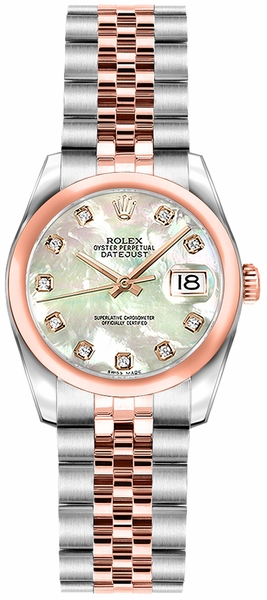 Rolex Lady-Datejust 26 Mother of Pearl Diamond Dial Watch 179161