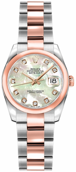 Rolex Lady-Datejust 26 Mother of Pearl Diamond Watch 179161