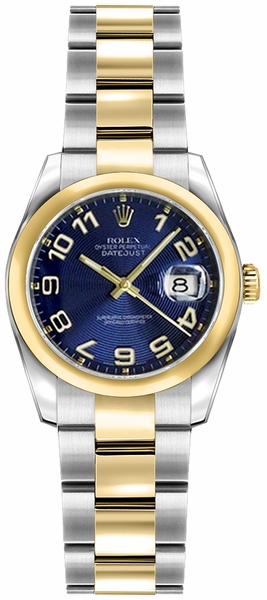 Rolex Lady-Datejust 26 Concentric Circle Blue Dial Watch 179163