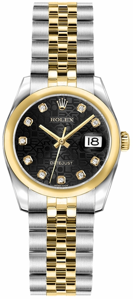Rolex Lady-Datejust 26 Stainless Steel & Gold Watch 179163