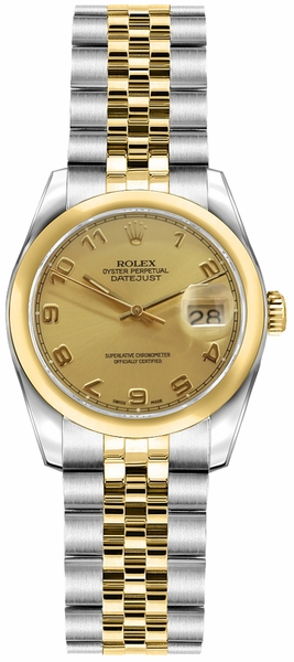 Rolex Lady-Datejust 26 Champagne Dial Watch 179163
