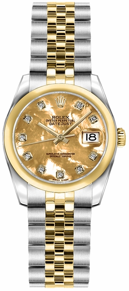 Rolex Lady-Datejust 26 Jubilee Bracelet Gold & Steel Watch 179163