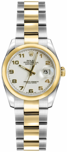 Rolex Lady-Datejust 26 Ivory Dial Women's Watch 179163