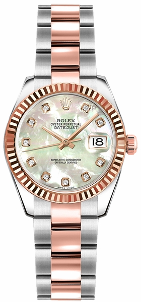 Rolex Lady-Datejust 26 Diamond Mother of Pearl Watch 179171
