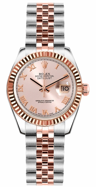 Rolex Lady-Datejust 26 Fluted Bezel Watch 179171