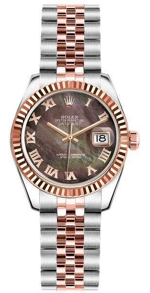 Rolex Lady-Datejust 26 Solid 18K Rose Gold & Steel Watch 179171