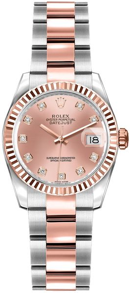 Rolex Lady-Datejust 26 Pink Diamond Dial Watch 179171