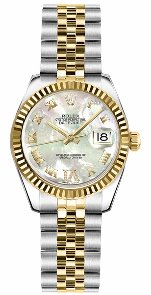 Rolex Lady-Datejust 26 Automatic Yellow Gold & Steel Watch 179173