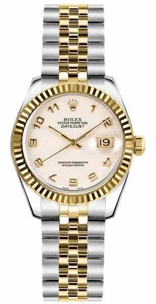 Rolex Lady-Datejust 26 Ivory Dial Watch 179173