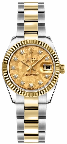 Rolex Lady-Datejust 26 Diamond Oyster Bracelet Women's Watch 179173