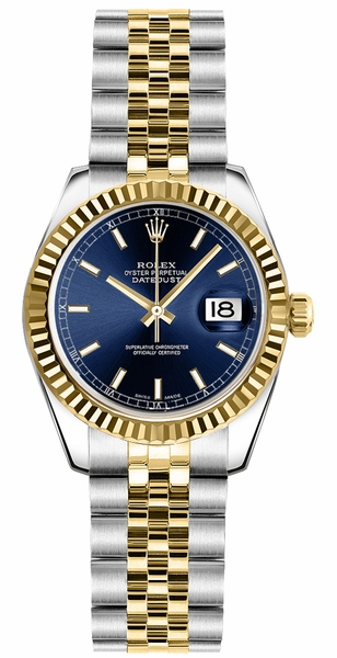Rolex Lady-Datejust 26 Blue Dial Watch 179173