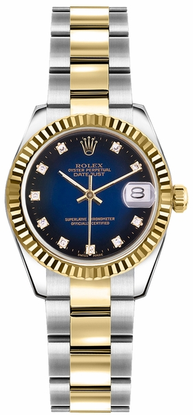 Rolex Lady-Datejust 26 Women's Gold & Steel Swiss Watch 179173