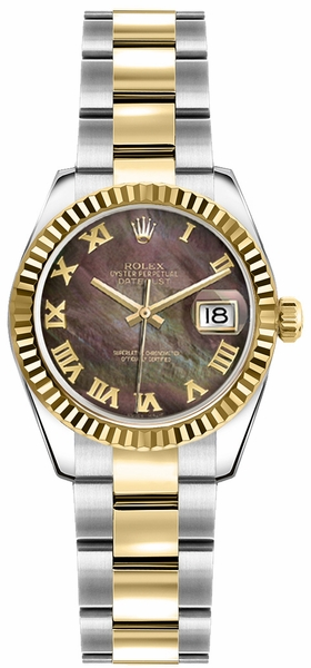 Rolex Lady-Datejust 26 Roman Numeral Dial Watch 179173