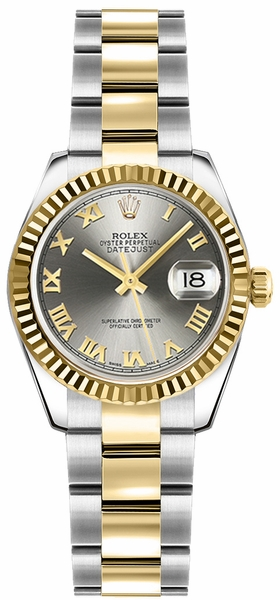 Rolex Lady-Datejust 26 Yellow Gold & Stainless Steel Watch 179173