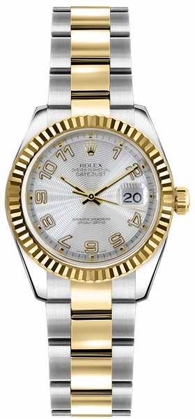 Rolex Lady-Datejust 26 Oystersteel & Gold Watch 179173