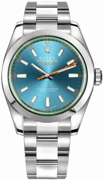 Rolex Milgauss Z-Blue Dial Luxury Men's Watch 116400GV-0002