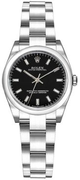 Rolex Oyster Perpetual 26 Black Dial Women's Watch 176200