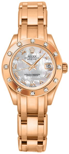 Rolex Pearlmaster 29mm Everose Gold Women's Watch 80315