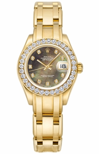 Rolex Pearlmaster Diamond Dial Women's Watch 80298