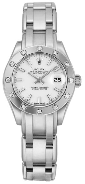 Rolex Pearlmaster Masterpiece 18k White Gold Women's Watch 80319