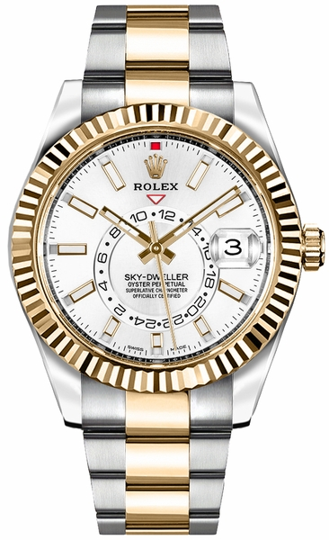 Rolex Sky-Dweller White Dial Men's Watch 326933
