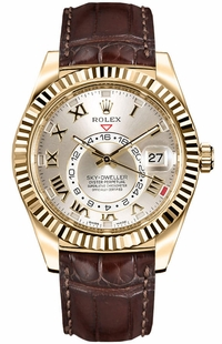Rolex Sky-Dweller Gold Watch 326138-0003
