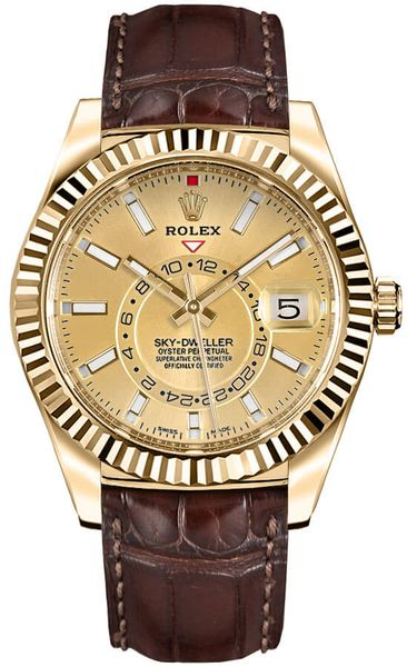 Rolex Sky-Dweller Yellow Gold Men's Watch 326138
