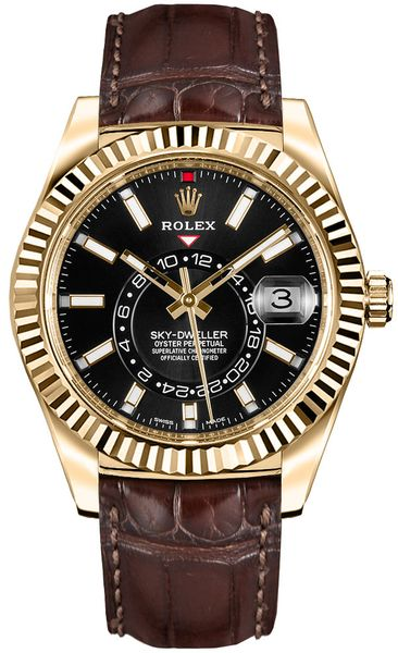 Rolex Sky-Dweller Black Dial Men's Watch 326138